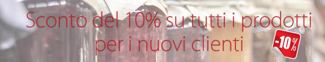 Sconto 10% su tutti i prodotti per i nuovi clienti